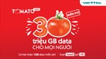 Viettel tặng khách hàng 30 triệu GB data