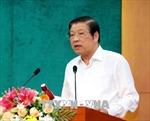 Trưởng ban Nội chính Trung ương Phan Đình Trạc làm việc tại tỉnh Vĩnh Long