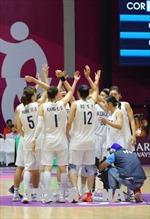 ASIAD 2018: Đội bóng rổ nữ liên Triều thắng áp đảo đội chủ nhà