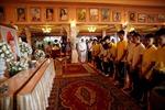 Thành viên đội bóng thiếu niên Thái Lan lên chùa tri ân người thợ lặn hy sinh trong chiến dịch giải cứu