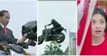 Tổng thống Indonesia xuất hiện tại Lễ Khai mạc ASIAD-18 bằng xe phân khối lớn như siêu sao hành động