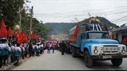 An táng hài cốt quân tình nguyện Việt Nam hy sinh tại Lào