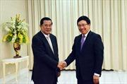 Thủ tướng Campuchia tiếp Phó Thủ tướng Phạm Bình Minh