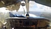 Chim trời lao vỡ toang buồng lái máy bay