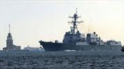Mỹ đưa tàu chiến vào cảng Gruzia