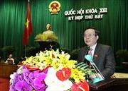 Đề nghị Quốc hội phê chuẩn quyết toán ngân sách 2012