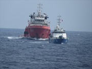 Tàu Trung Quốc cản phá tàu Kiểm ngư Việt Nam thực thi nhiệm vụ