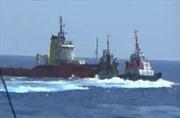 Tàu Kiểm ngư 951 khắc phục tại chỗ những thiệt hại ban đầu