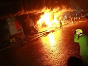Cháy lớn tại Công ty Điện lạnh Hòa Phát, Hưng Yên