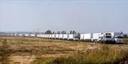 16 xe cứu trợ Nga tiến đến biên giới Ukraine