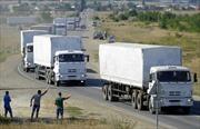 Đoàn xe cứu trợ thứ hai của Nga chuẩn bị tới miền Đông Ukraine