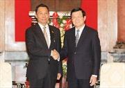 Chủ tịch nước Trương Tấn Sang tiếp Chủ tịch Quốc hội Myanmar