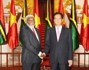 Thủ tướng Nguyễn Tấn Dũng hội đàm với Thủ tướng Vanuatu