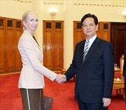 Thủ tướng Nguyễn Tấn Dũng tiếp Đại sứ Na Uy