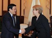 Chủ tịch nước Trương Tấn Sang tiếp Đại sứ Hy Lạp
