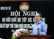 Đồng chí Nguyễn Thiện Nhân tiếp xúc cử tri Bắc Giang