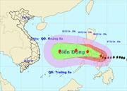 Trong 24 giờ tới, bão Hagupit di chuyển theo hướng Tây Tây Bắc