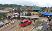 Hình ảnh cứu hộ khẩn trương vụ sập hầm thủy điện