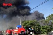 Cháy rụi 1.600 m2 nhà xưởng nội thất
