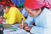 Lớp học xóa mù chữ cho phụ nữ Mông