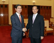 Thủ tướng Nguyễn Tấn Dũng tiếp Chủ tịch Hội Hữu nghị Hàn - Việt