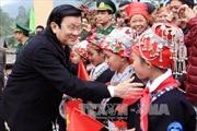 Chủ tịch nước thăm, chúc Tết đồng bào chiến sỹ Lào Cai