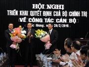 Trao quyết định của Bộ Chính trị về nhân sự tỉnh Bắc Giang