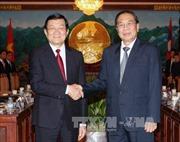 Chủ tịch nước Trương Tấn Sang hội đàm với Chủ tịch nước Lào