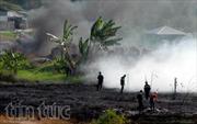 Cháy hơn 1.000 m2 cỏ khô, uy hiếp nhiều nhà dân