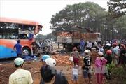Xe khách đâm xe tải, hàng chục người thương vong