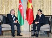 Chủ tịch nước Trương Tấn Sang gặp Thủ tướng Azerbaijan