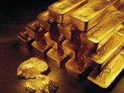 Giá vàng chạm mức thấp nhất 5 tuần