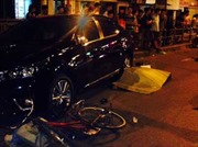 Hà Nội: Ô tô con đâm người đi xe đạp chết tại chỗ