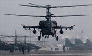 Trực thăng 'cá sấu' Nga phô diễn uy lực