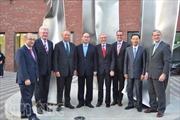 Đồng chí Nguyễn Thiện Nhân thuyết trình về kinh tế Việt Nam tại Đức