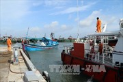 Lai dắt tàu cá bị hỏng máy trên biển cùng 14 thuyền viên