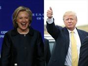 Ông Donald Trump và bà Hillary dẫn đầu bầu cử Mỹ