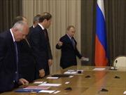 Ông Putin nhắc khéo Phó Thủ tướng sửa cà vạt