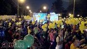 Lễ diễu hành xe đạp lúc nửa đêm ở Moskva