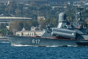 Tàu chiến Nga băng qua Eo biển Bosphorus để tham chiến tại Syria