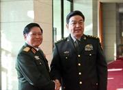 Đại tướng Ngô Xuân Lịch hội kiến Bộ trưởng Quốc phòng Trung Quốc Thường Vạn Toàn