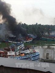 Cháy tàu cá, thiệt hại hàng tỷ đồng tại Kiên Giang