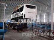 Nhà máy xe Bus Trường Hải sản xuất trở lại sau sự cố cháy