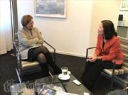 Đại sứ Ngô Thị Hòa ra mắt các tổ chức quốc tế tại La Haye
