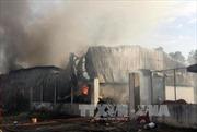 Cháy lớn ở kho hàng phế liệu tại quận 9, TP Hồ Chí Minh