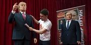 Bulgaria dựng tượng sáp Trump, Putin cầu hòa bình thế giới
