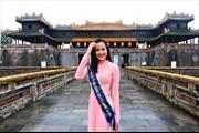 Hoa khôi Khánh Ngân nền nã áo dài làm Đại sứ Lễ hội Khinh khí cầu tại Huế