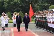 Chủ tịch nước Trần Đại Quang đón tiếp Tổng thống Ai Cập thăm Việt Nam
