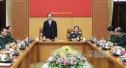 Chủ tịch nước Trần Đại Quang làm việc với lãnh đạo Bộ Quốc phòng