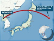 Vừa tuyên bố muốn nhấn chìm Tokyo, Triều Tiên phóng tên lửa qua Nhật Bản